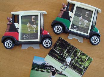 ゴルフカート型ピクチャーフレーム