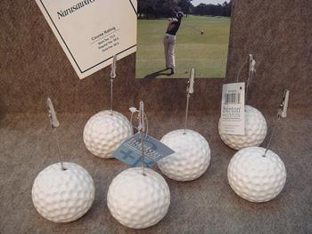 ゴルフボール メモクリップ
