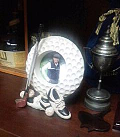 父の日に贈られたゴルフ!写真立て