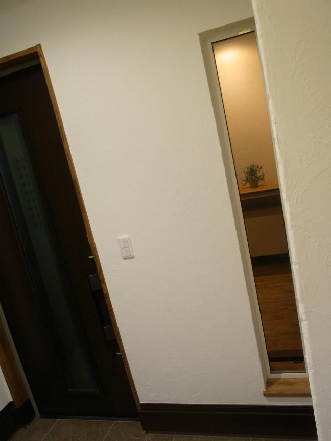 玄関ドア スリット夜