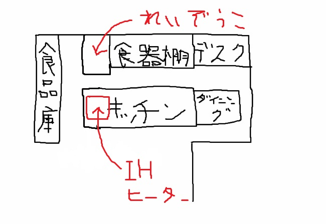 キッチン手書き(冷蔵庫)