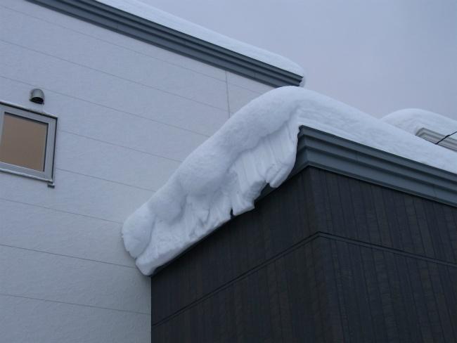 雪庇 カット後 翌日