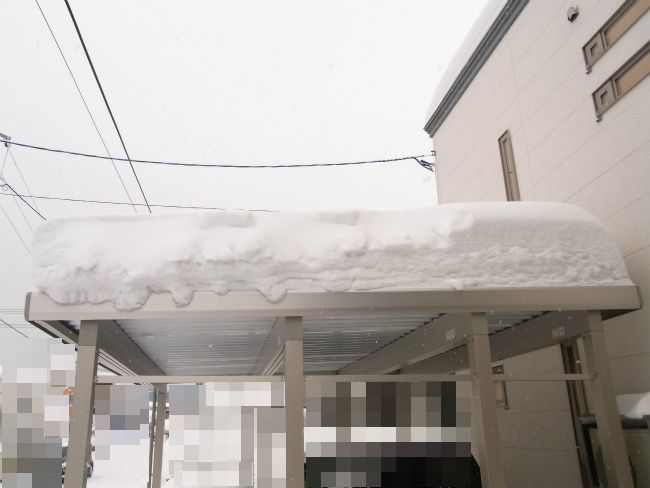カーポート 除雪前