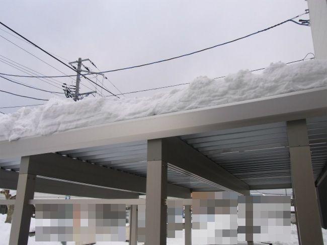 カーポート 除雪後