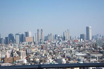 屋上から新宿