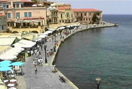 ハニア ホテルからの港の眺め