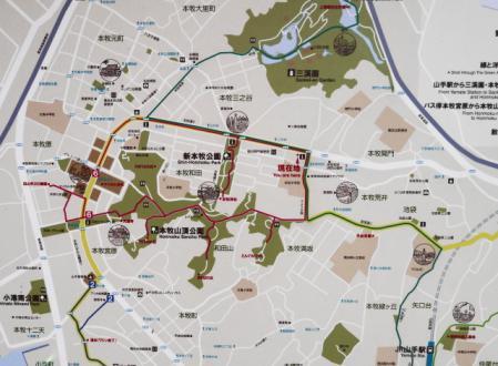 本牧散策コース地図