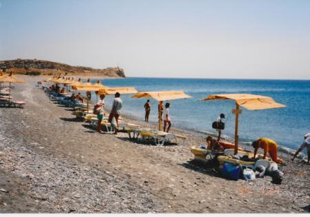 コス島のビーチ