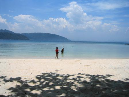 サピ島のビーチ