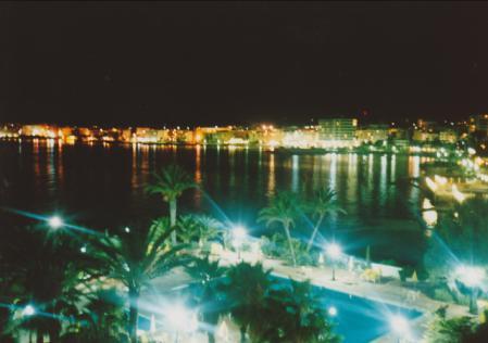 イビサ ホテルからの夜景
