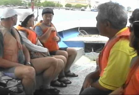 島行きのフェリーボート