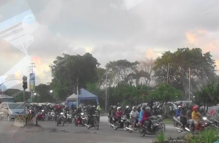 バリ南部の渋滞