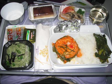 帰りのタイ航空機内食