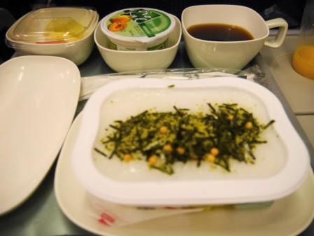 インチョンまでの機内食(2)