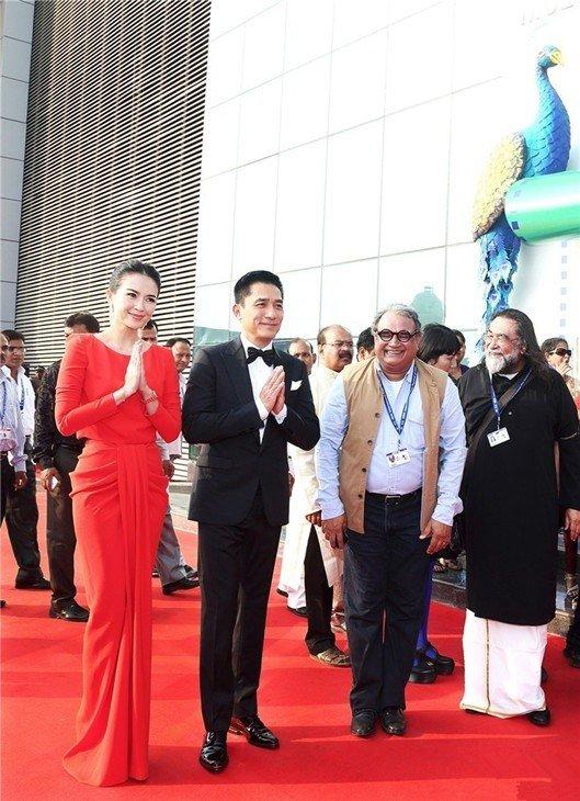 トニーさん&チャン・ツィイー@インド国際映画祭