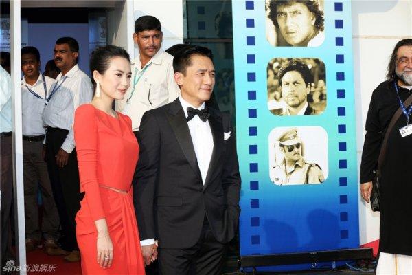 トニーさん&チャン・ツィイー@インド国際映画祭2