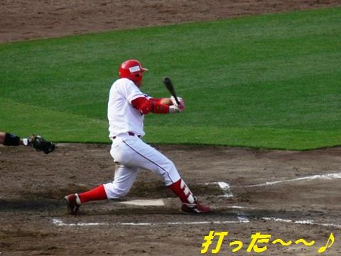 センターオーバー2塁打②