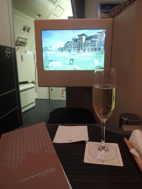 ビジネスクラス シャンパン