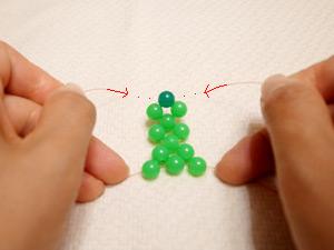 ビーズボール作り方12