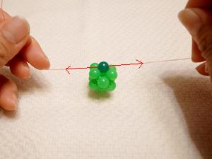 ビーズボール作り方14