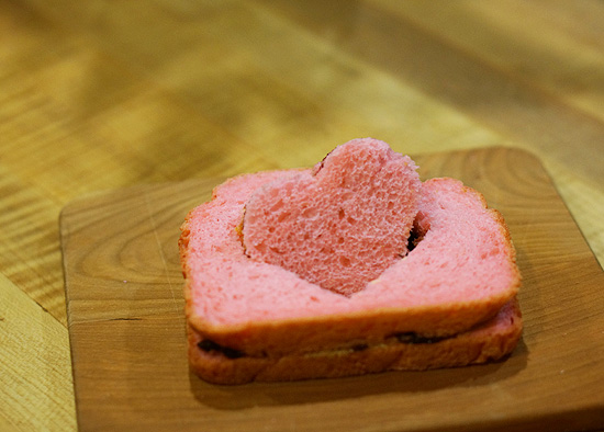 ハートサンドイッチ