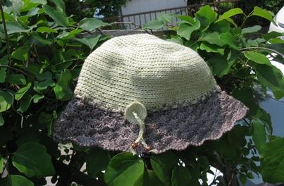 草木染の帽子