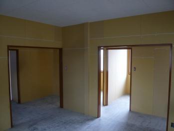 建具枠取付、塗装