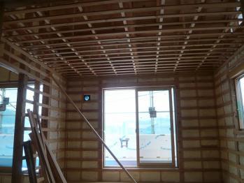 2階天井下地、壁下地3
