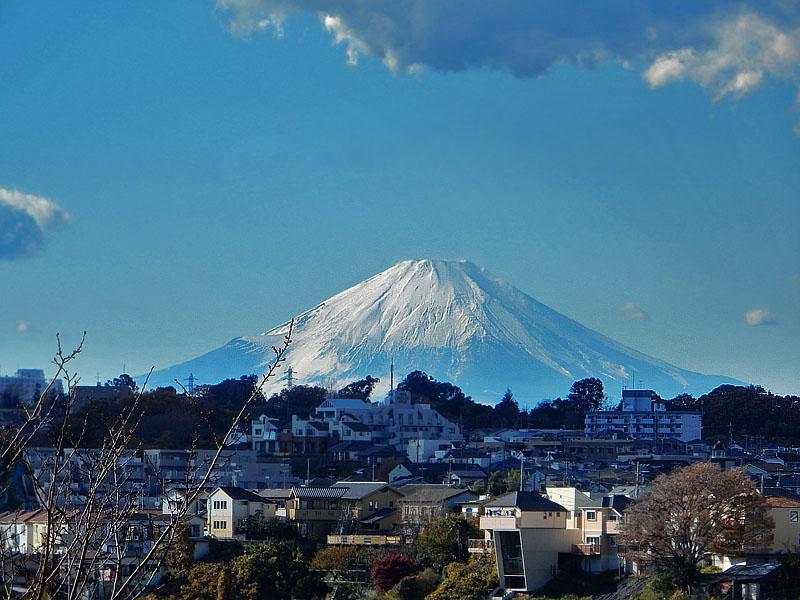 141205今日の富士山@横浜市南区1