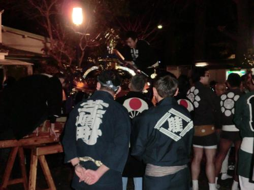 平塚神輿設営