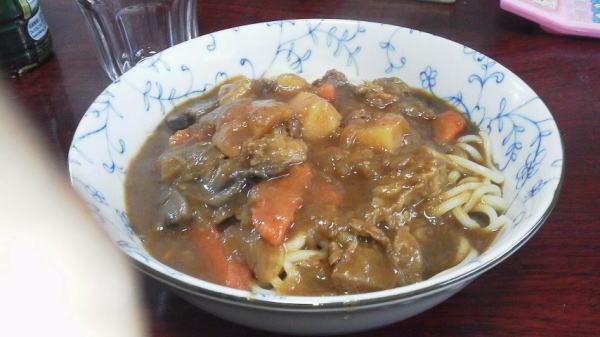 カレー中華麺 (* ̄m ̄) プッ