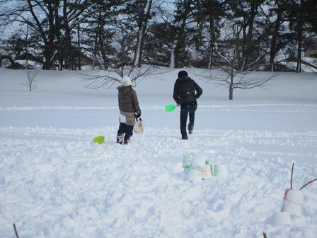雪燈籠まつり遊び場カップル