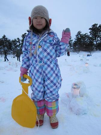 雪燈籠まつり遊び場キャンドルポット3