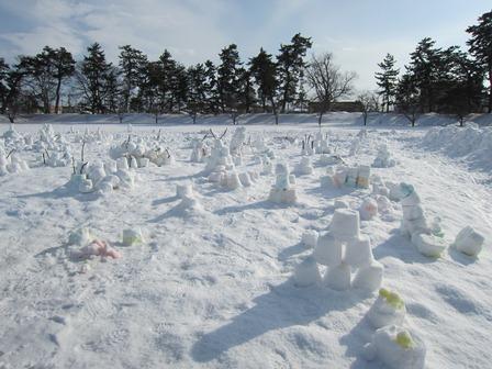 雪燈籠まつり遊び場たくさんの作品