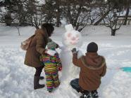 雪燈籠まつり遊び場作品5家族