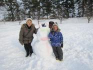 雪燈籠まつり遊び場作品6祖父母