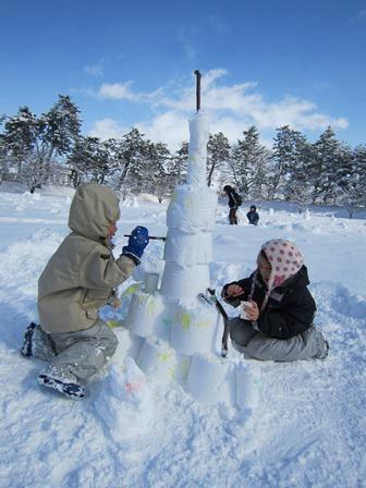 雪燈籠まつり遊び場作品7スカイツリー