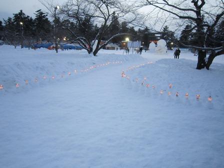 雪燈籠まつりキャンドルポット2