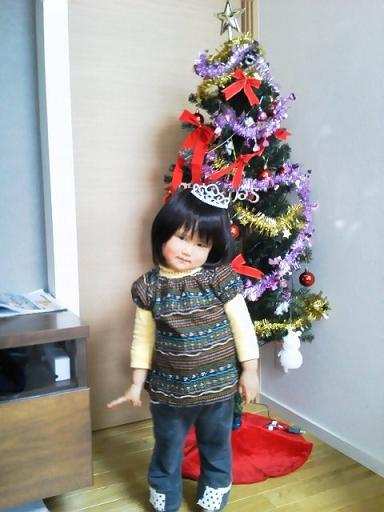 クリスマスツリーと妃咲