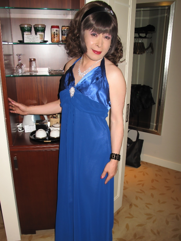 091218青ロングドレス(1)