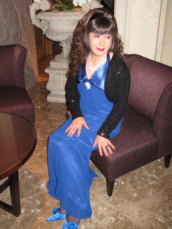 091218青ロングドレス(4)