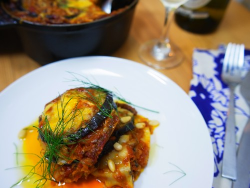 秋刀魚と米茄子のラザニア