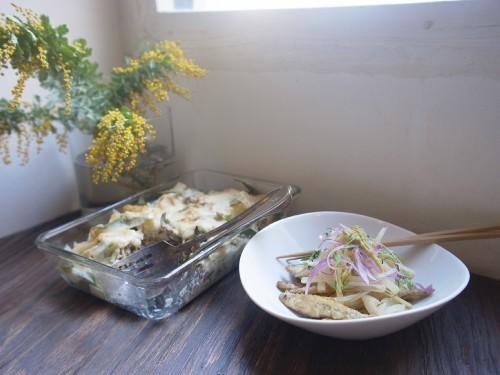 ミモザと山菜 明るい サイズ変更