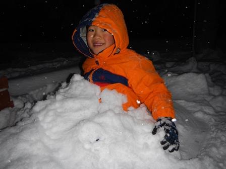雪は楽しいな