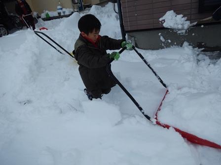 朝から除雪の