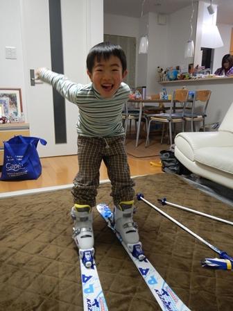 スキーの準備