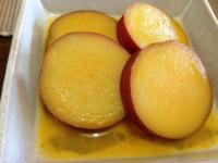 サツマイモのみかん煮