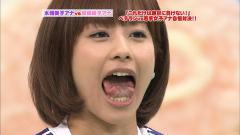 加藤綾子の「女子アナ対決」での口の中・舌キャプチャー画像