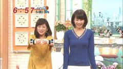 加藤綾子がニット・セーターでおっぱいが透けている画像