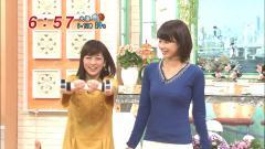 加藤綾子のブラがニットのセーターにクッキリ画像